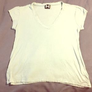 H by Bordeaux Ribbed Tee Large 3 for $15